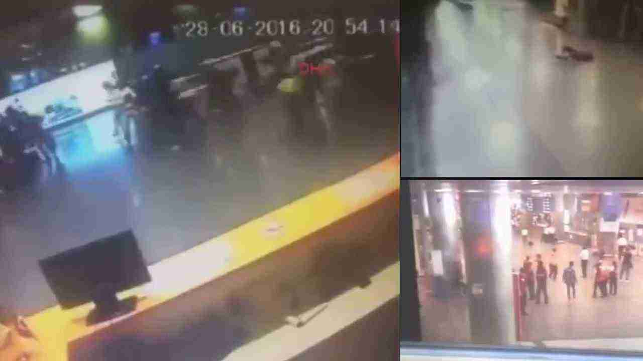CCTV footage shows moment blast of Istanbul Ataturk airport in Turkey