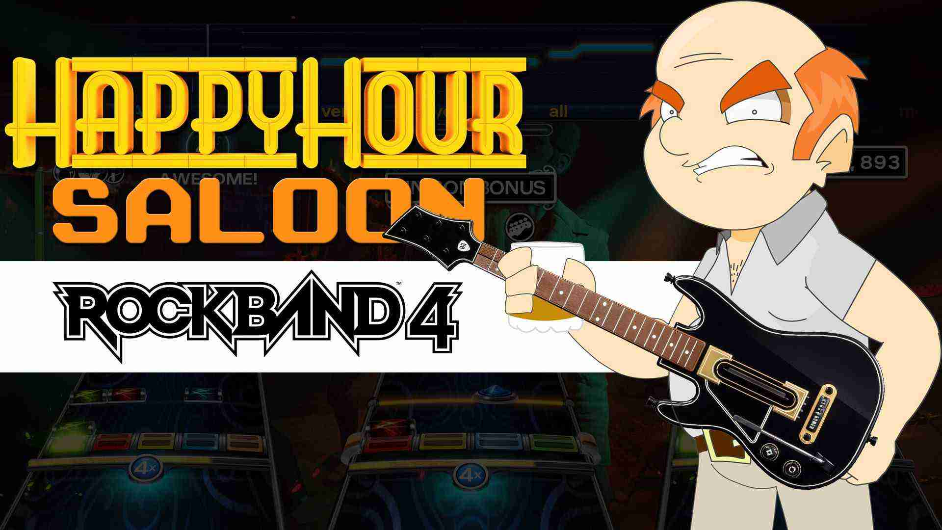 Lou and Derek Play Rock Band 4 – Happy Hour Saloon