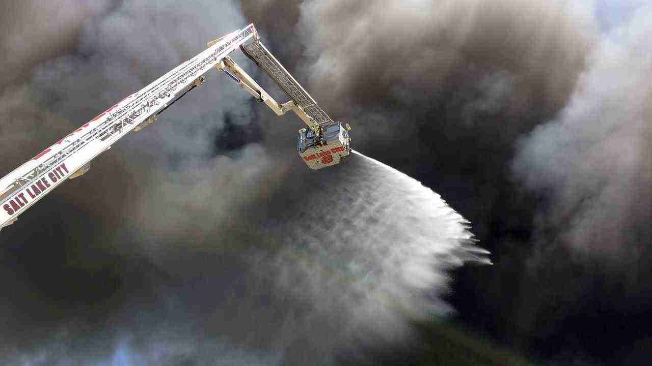 SALT LAKE CITY FIRE. Fire in Salt Lake City is contained after 100 firefighters battled the blaze