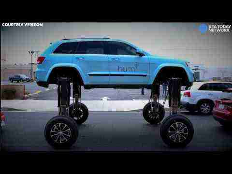 Drive right over a traffic jam with this elevating car