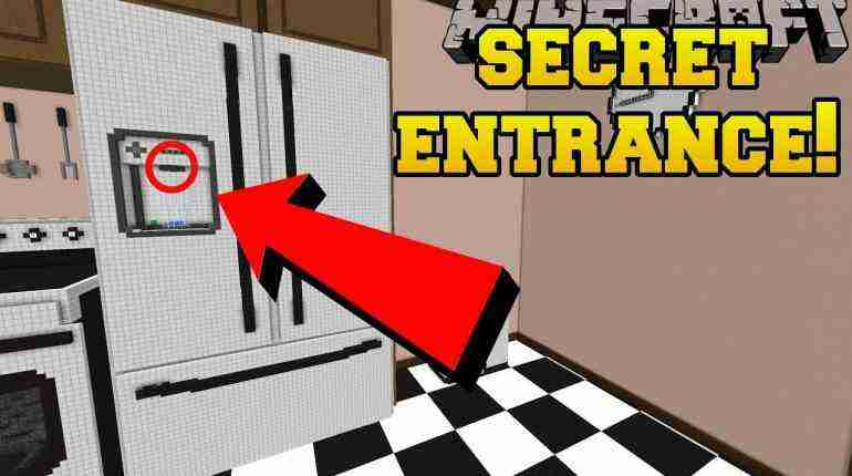 Minecraft: THE SECRET FRIDGE ENTRANCE!!! – Crack The Case – Custom Map [2]