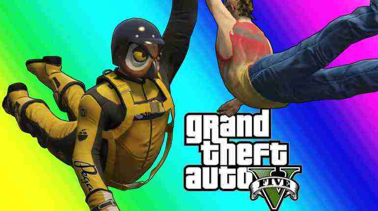 GTA 5 Online Funny Moments – Resurrection and The Michael Jordan Dive!