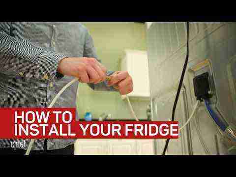 How to install and level your refrigerator