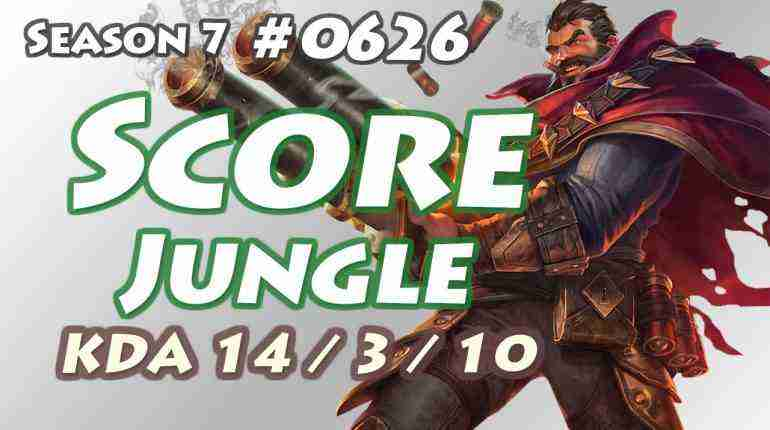 KT Score – Graves Jungle – KR LOL Master 75LP | 스코어 그레이브즈
