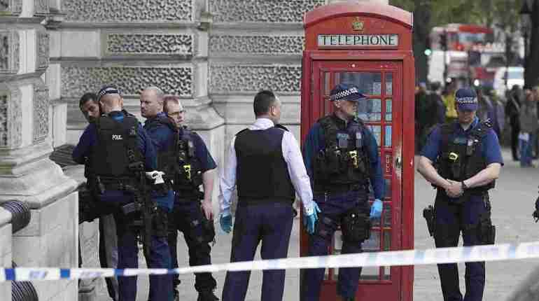 Man with knives arrested near British parliament on suspicion of 'planning a terrorist act'