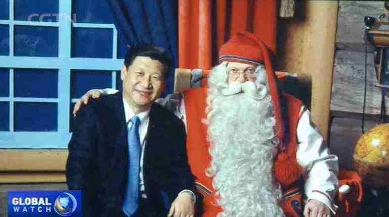 When Xi Jinping met Santa Claus in 2010